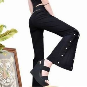 Michael Kors RiRi Bell Bottom Snap Flare Pants 4